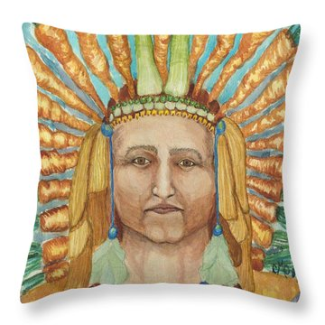 Chief 24 Carrots Throw Pillow