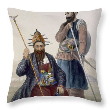 Chief Executioner And Assistant Of His Throw Pillow by James Rattray
