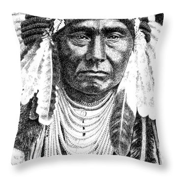 Chief-joseph Throw Pillow