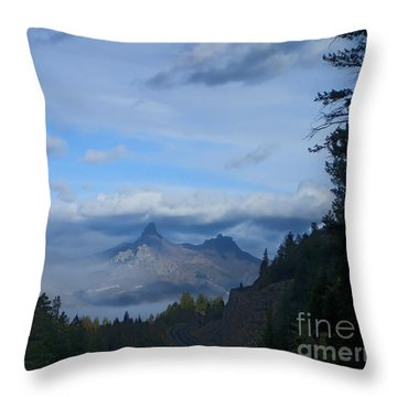 Chief Joseph Hiway-signed-#0001 Throw Pillow