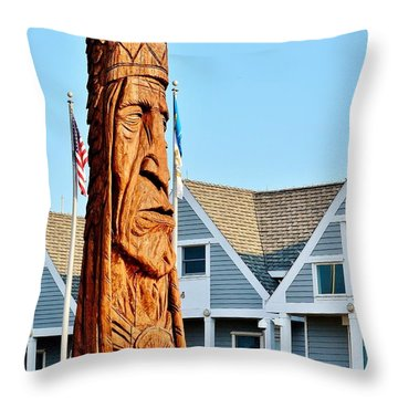 Chief Little Owl Throw Pillow