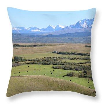 Chief Mountain Throw Pillow