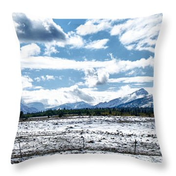 Chief Of The Mountains Throw Pillow
