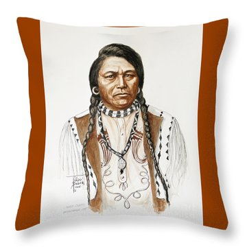 Chief Ouray Throw Pillow