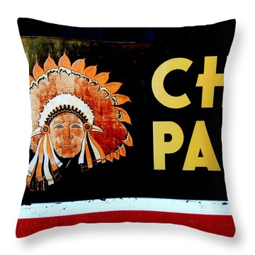 Chief Paints Sign Throw Pillow