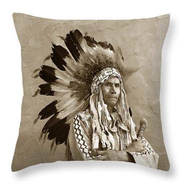Chief Red Eagle Carmel California Circa 1940 Throw Pillow
