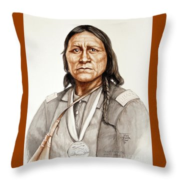 Chief Satanta Throw Pillow