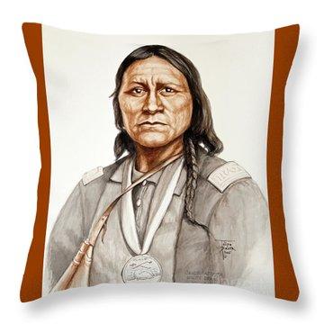 Chief Satanta Throw Pillow