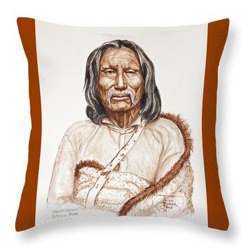 Chief Satnak - Kiowa Throw Pillow