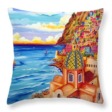 Chiesa A Positano Throw Pillow