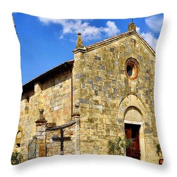 Chiesa Di Santa Maria Assunta Throw Pillow by Fabrizio Troiani
