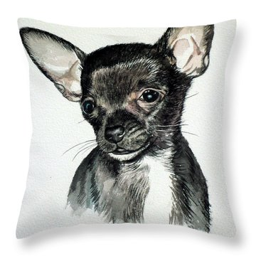 Chihuahua Black 2 Throw Pillow