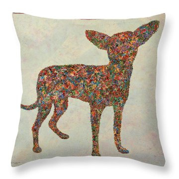 Chihuahua-shape Throw Pillow by James W Johnson