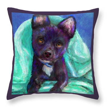Chihuaua Throw Pillow by Jane Schnetlage