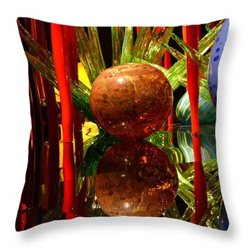 Chihuly-10 Throw Pillow by Dean Ferreira