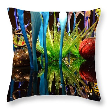 Chihuly-11 Throw Pillow by Dean Ferreira