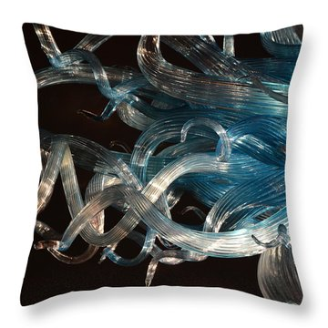 Chihuly-13 Throw Pillow by Dean Ferreira