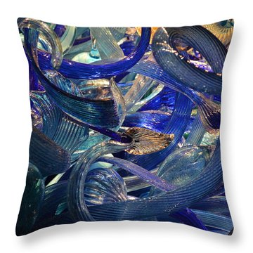 Chihuly-2 Throw Pillow by Dean Ferreira