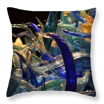 Chihuly-3 Throw Pillow by Dean Ferreira