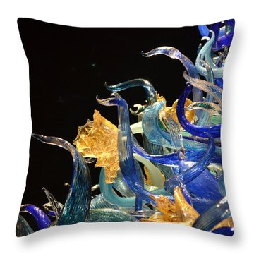 Chihuly-4 Throw Pillow