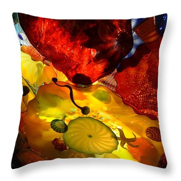 Chihuly-5 Throw Pillow by Dean Ferreira