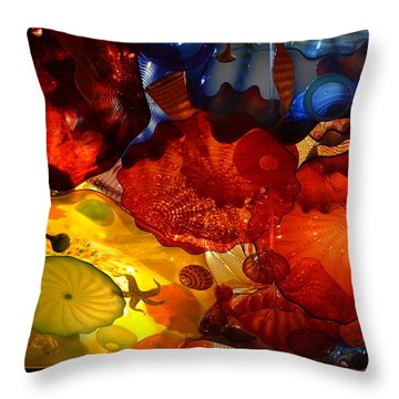 Chihuly-6 Throw Pillow by Dean Ferreira