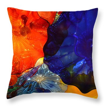 Chihuly-7 Throw Pillow by Dean Ferreira