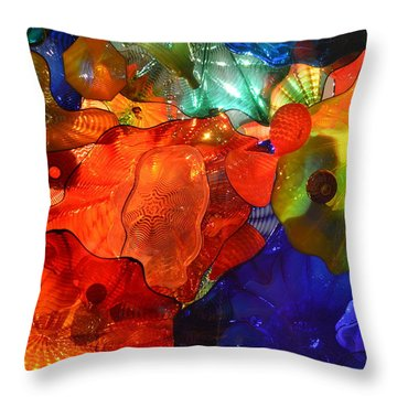 Chihuly-8 Throw Pillow by Dean Ferreira