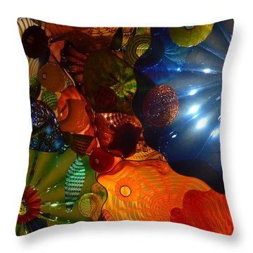 Chihuly-9 Throw Pillow by Dean Ferreira