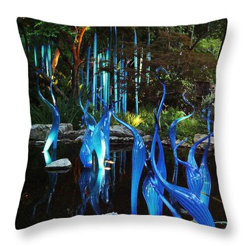 Chihuly Blueswanlake Throw Pillow