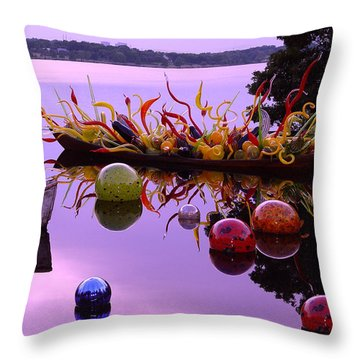 Chihuly Boats And Balls Throw Pillow