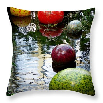 Chihuly Globes Throw Pillow by Laurel Talabere