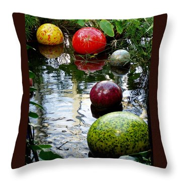 Chihuly Globes Throw Pillow