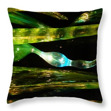 Chihuly Green In Denver Colorado Throw Pillow