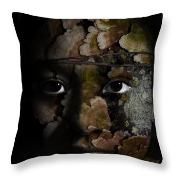 Child Of The Forest Throw Pillow by Christopher Gaston