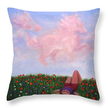 Childhood Day Dreams Throw Pillow