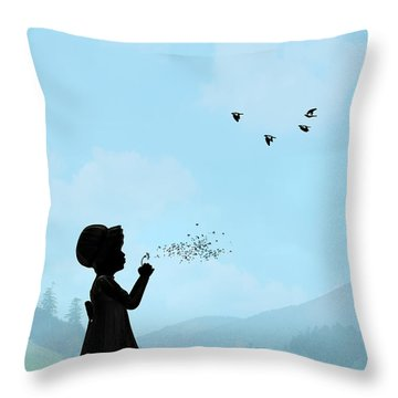 Childhood Dreams One O Clock Throw Pillow by John Edwards