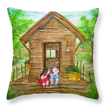 Childhood Retreat Throw Pillow by Jan Wendt