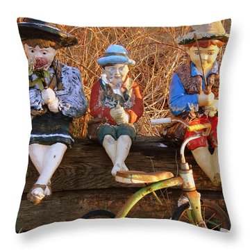 Throw Pillow featuring the photograph Childhood by Rodney Lee Williams