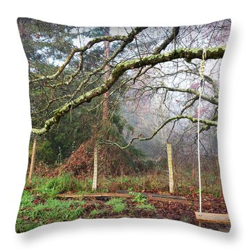 Childhood Swing Throw Pillow