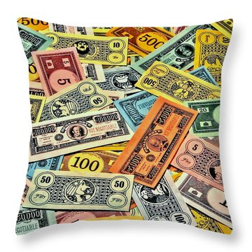 Childhood Wealth Throw Pillow by Benjamin Yeager