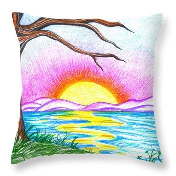 Childlike Wonder Throw Pillow by Shawna Rowe