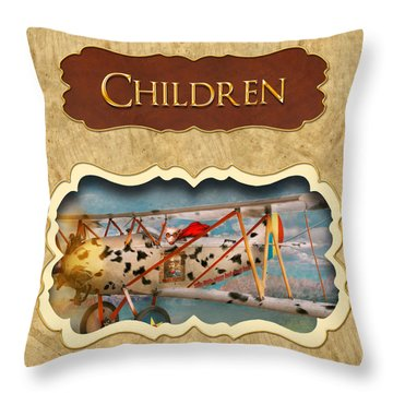 Children Button Throw Pillow by Mike Savad