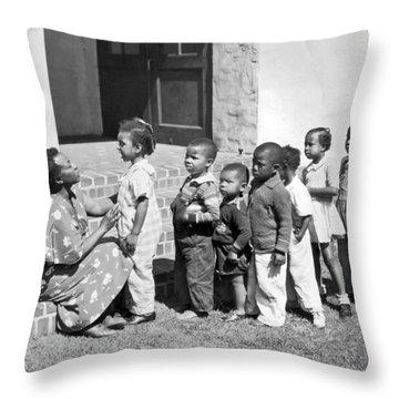 Children Get School Inspection Throw Pillow