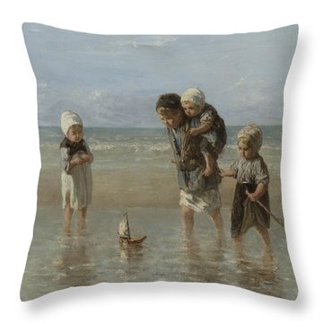 Children Of The Sea Throw Pillow