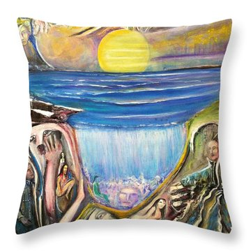 Children Of The Sun Throw Pillow