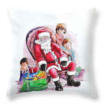Children Patiently Waiting Up For Santa. Throw Pillow
