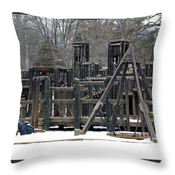Throw Pillow featuring the photograph Children Will Play by Gena Weiser