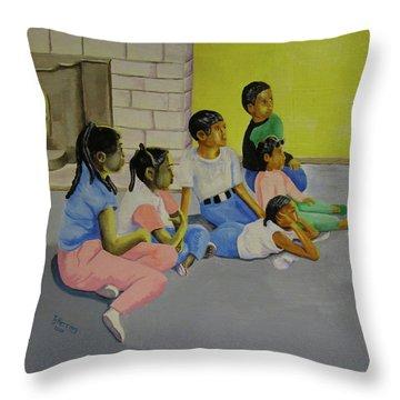 Children's Attention Span  Throw Pillow