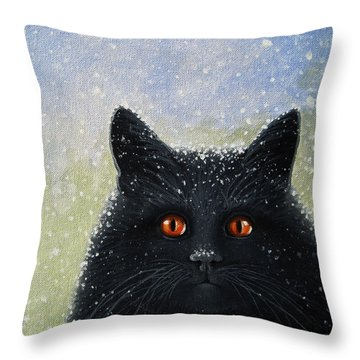 Children's Book Cover Painting Throw Pillow by Linda Apple